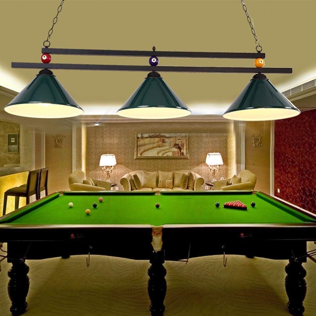 Araña industrial con luces 3 * E27 Adecuada para mesas de billar o isla de cocina, Shadowless, diseño de bola de metal Lámpara de mesa de billar con luces de lámpara de