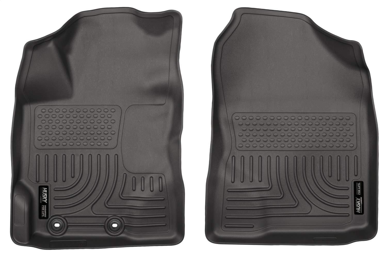 12-14 Yaris Husky Liners 13501 Black Front Floor Liner