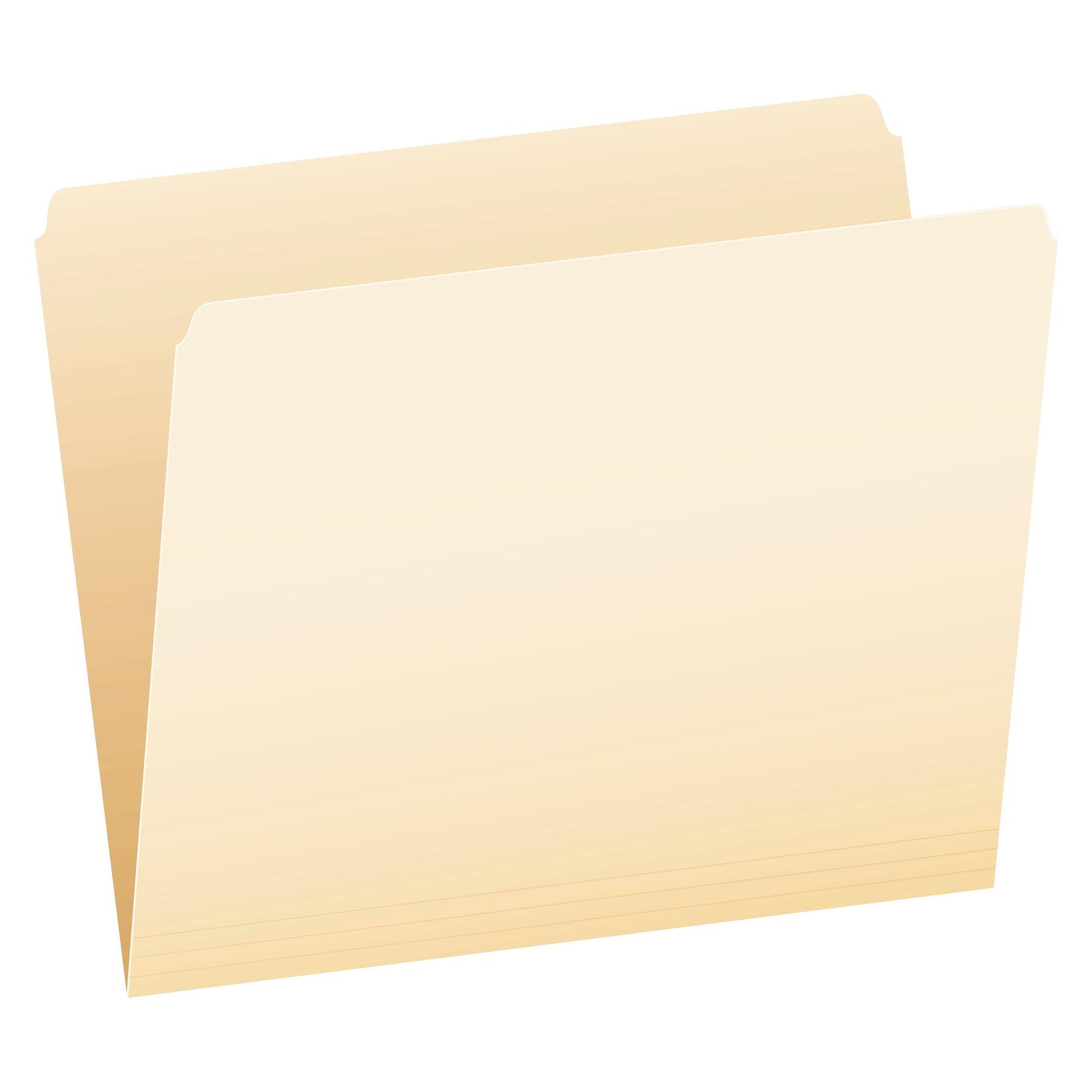 Pendaflex 752 File Folders, Straight Cut, Top Tab, Letter, Manila (Box of 100)