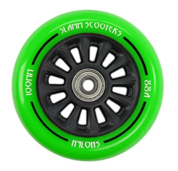Slamm Scooters 100mm Nylon Core Ruedas, Unisex Adulto, Verde, 100 mm: Slamm: Amazon.es: Deportes y aire libre