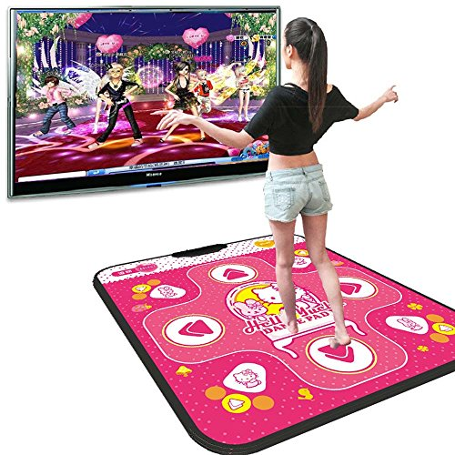 Non-slip Dance Mats Rhythm and Beat Game Dancing Step Pads USB Lose Weight Pads Dancer Blanket with USB Entertainment for PC Laptop-Megach (1.1cm thick Red) (Xbox 360 Metal Dance Pad)
