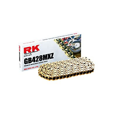 RK Racing Chain GB428MXZ132 132-Links Gold MX Chain with Connecting Link: Automotive