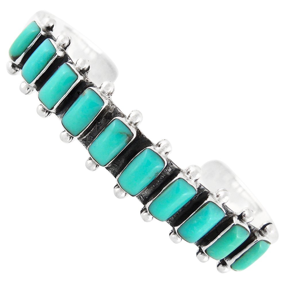 Turquoise Bracelet Sterling Silver 925 (Choose Style) (Rectangles Galore)