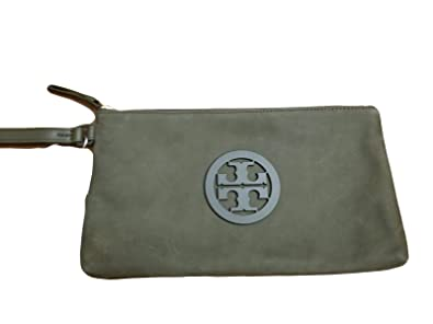 c939060bcbc Image Unavailable. Image not available for. Color  Tory Burch Charlie Logo  Sueded Leather Wristlet Clutch Bag ...