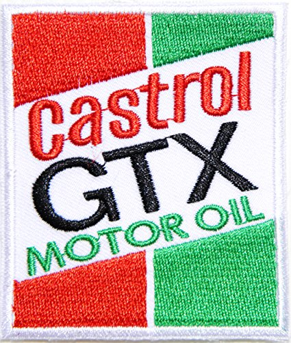 Castrol GTX Motor Oil Gas Gasoline Logo Sign Racing Patch Iron on Applique Embroidered T shirt Jacket BY SURAPAN