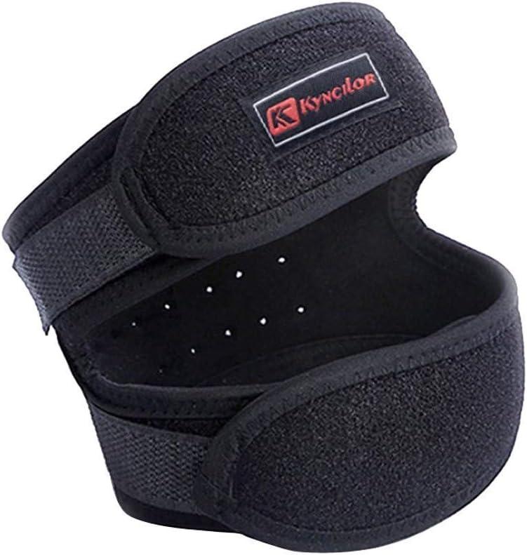 Kyncilor Cinturón de rótula 1 par Almohadillas deportivas para rodilla Almohadillas de nylon de punto cruzado de primavera para montar a caballo Baloncesto fabricantes de montañismo al aire libre Eq
