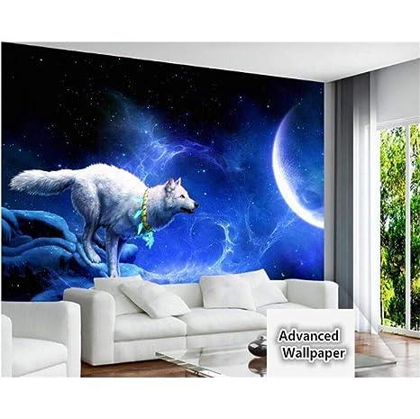White Wolf collar luna creciente sueño estético KTV ...