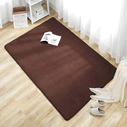 Velvet Rug, Solid Color Thin Floor Mat Rug Pad Home Decor/Living Room/