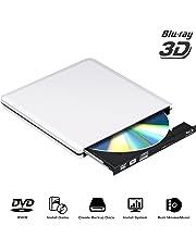 External Blu Ray Drive USB 3.0 3D 4K,Bluray DVD CD Drive Opitical Disc Burner Player Compatible for Mac/PC/MacBook Pro Air Windows10/7/8
