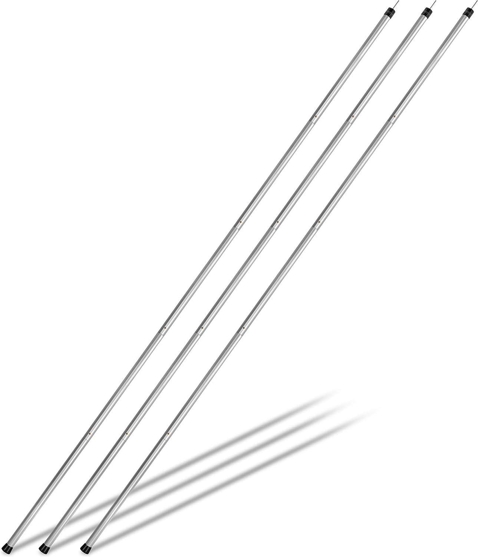 Vorzelt Sonnensegel Aluminium Zeltstange Aufstellstange Abst/ütztstange von 120-300 cm f/ür Tarps Planen Tarnnetz oder Zelteingang Kurzes Packma/ß