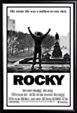 Framed Classic Movie - Rocky Balboa 24x36 Poster in Basic Black Detail Wood Frame