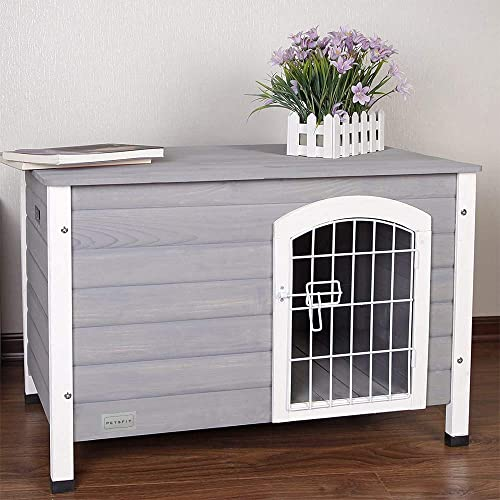 Petsfit-Indoor-Wooden-Dog-House-with-Wire-Door-for-Small-Dog