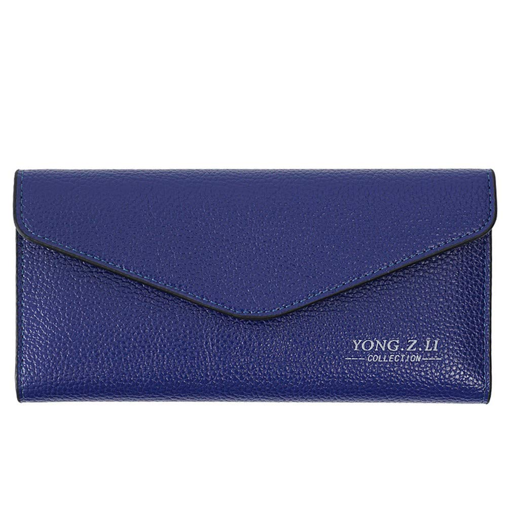 Fashion PU Leather Women Long Wallets Ladies Coin Card Clutch Bag Soft Purse With Phone Pocket