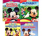 Mickey Mouse Clubhouse Workbook and Flashcard Learning Bundle (Set of 4) includes (1) Numbers & Counting Learning Flash Cards + (1) Colors and Shapes Learning Flash Cards + (1) Alphabet Learning Workbook + (1) Numbers and Counting Learning Workbook by Dis
