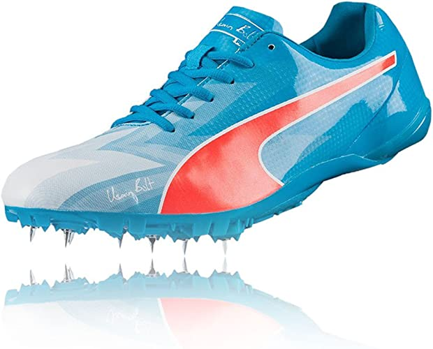 guidare Stabilire componente  PUMA Bolt Evospeed Electric V3 Running Spikes - 5.5 Blue: Amazon.co.uk:  Shoes & Bags