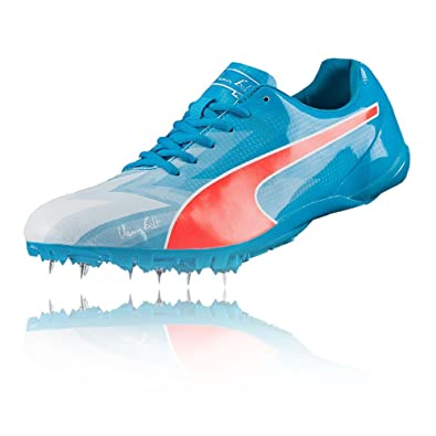 91369fad77b20d Puma Bolt Evospeed Electric V3 Running Spikes - 5.5 Blue  Amazon.co ...