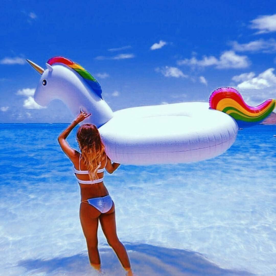Flotador Unicornio, Inflable Gigante de Unicornio Flotador ...