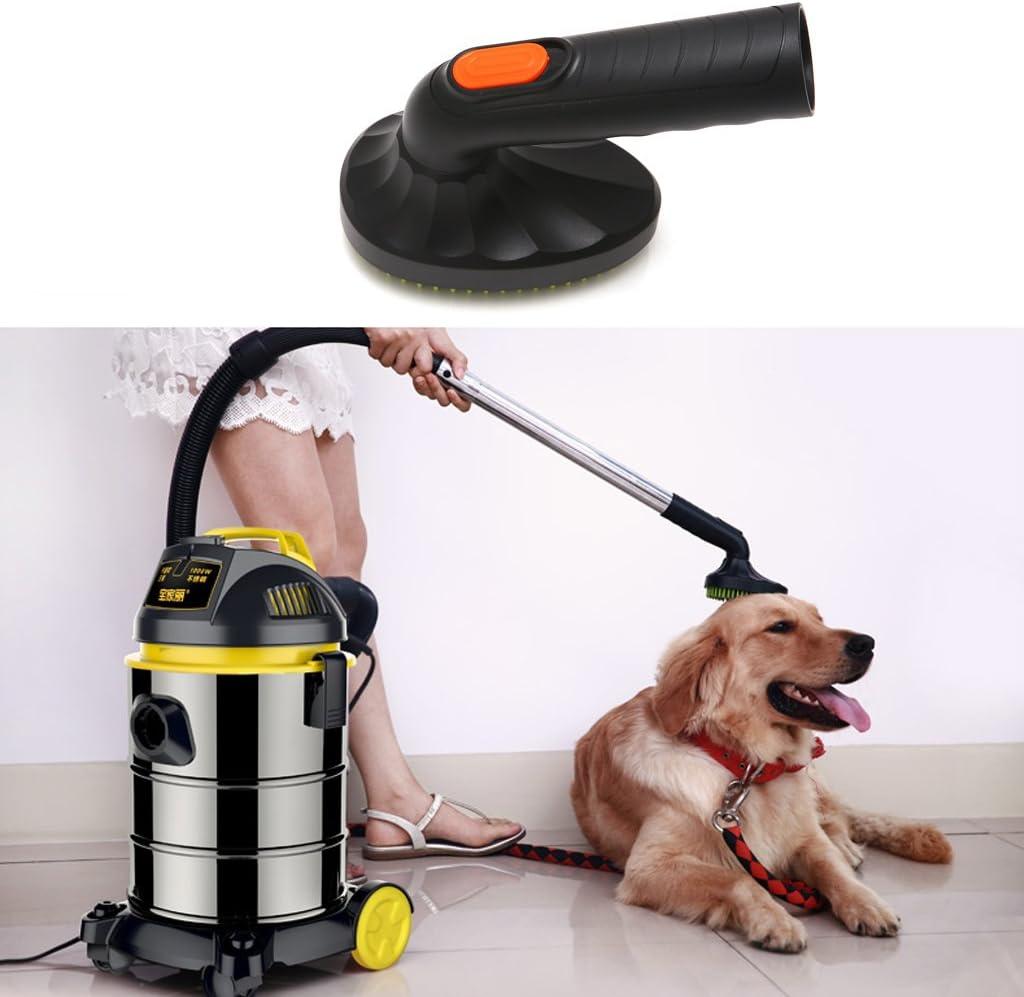 Cepillo de aseo para mascotas Green&Rar, para gatos, perros, aspiradoras, herramienta de fijación para pelo suelto, 32 mm: Amazon.es: Hogar