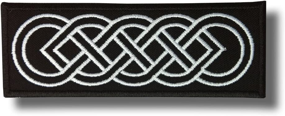Celtic Knot Variation 3 12 X 4 cm Embroidered Patch