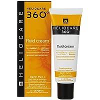 Heliocare 360º Fluid Cream SPF 50+ - Crema Solar Facial Fluida, Nutre e Hidrata, Aporta Suavidad a la Piel, sin Residuo…