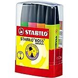 STABILO BOSS Original - Marcador fluorescente - Estuche premium BOSSparade con 4 colores