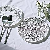 Exquisite Patterns Round Ceramic Dinner Plate Set (Flowers)