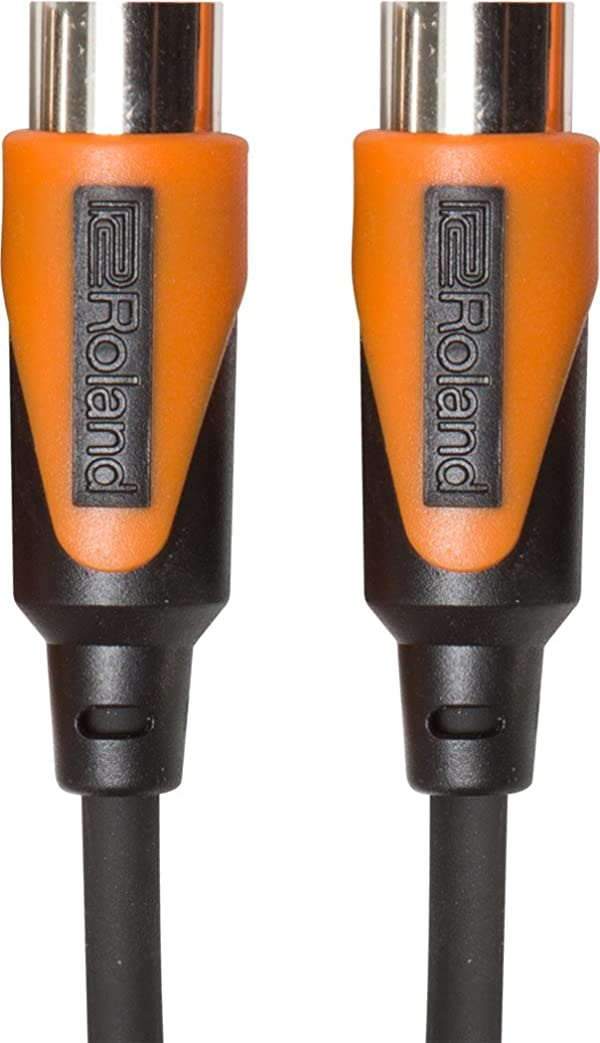 Roland 20ft MIDI Cable, Black series (RMIDI-B20) (Color: Black series, Tamaño: 20 feet)