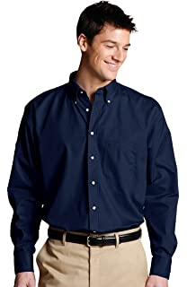 Edwards Garment Mens Long Sleeve Button Down Poplin Shirt/_TEAL/_X-Large 37