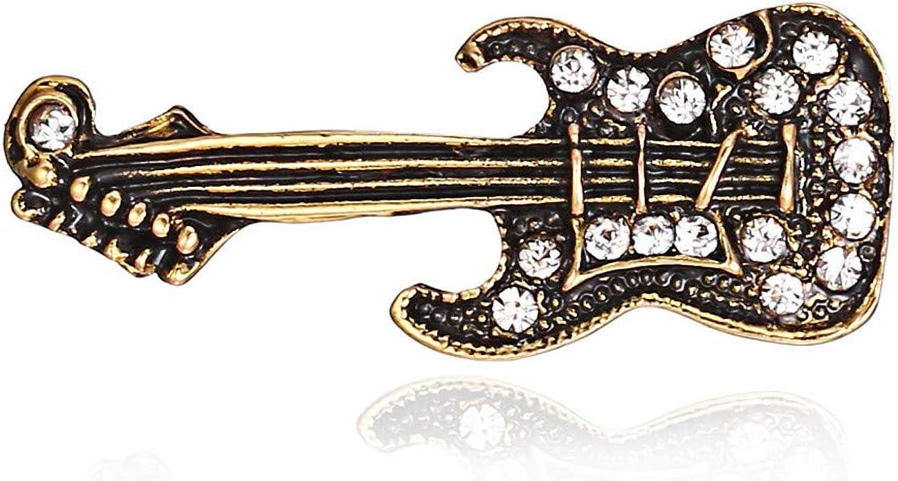 SKZKK Elegante Vintage Broche Pin Mujer Guitarra Creativa Vestido ...