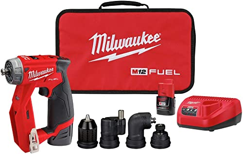 Milwaukee 2505-22 M12 FUEL Lithium-Ion 3 8 in. Cordless Installation Drill Driver Kit 2 Ah