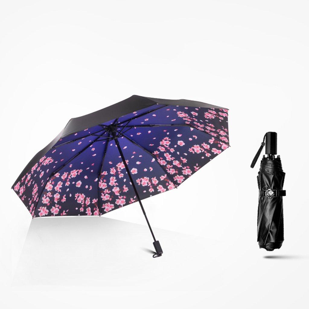 sx-zzj傘防風傘UV保護サン傘ウルトラライト小さな折りたたみ傘傘デュアルブラック傘 B07FMZGY3N  A