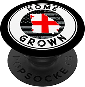 Georgia Native Home Grown Quote State American Flag Pride GA PopSockets Grip and Stand for Phones and Tablets