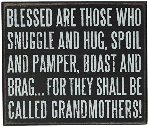 Primitives by Kathy Box Sign, 5 by 6-Inch, Grandmothers (Birthday Gift Ideas For Grandmother)