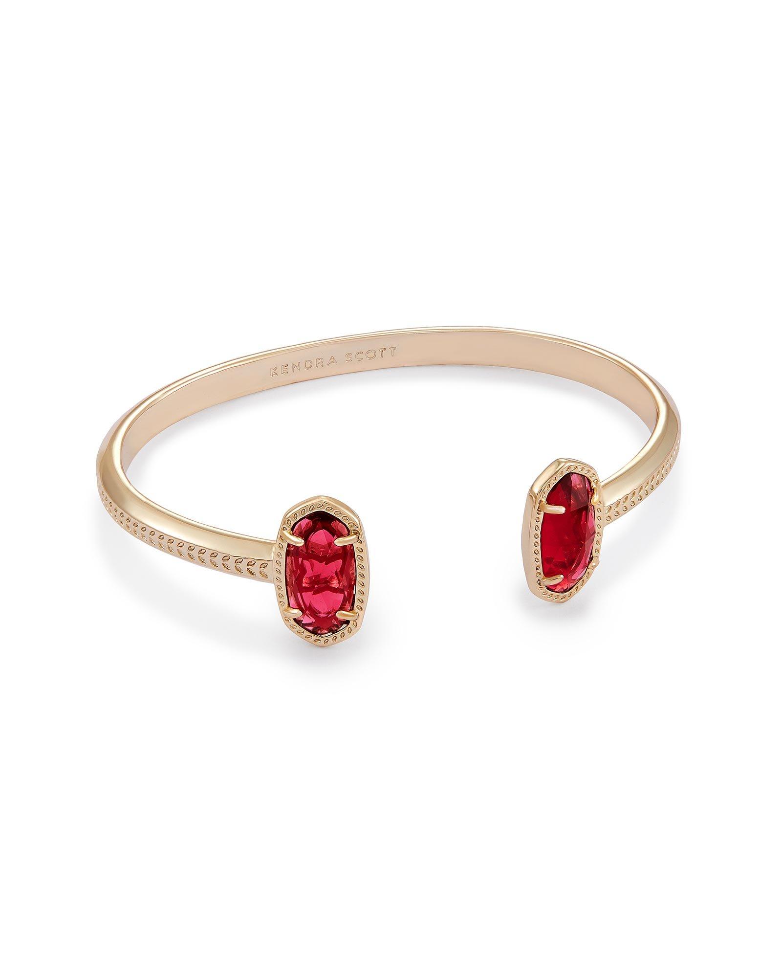 Kendra Scott Elton Pinch Bracelet In Berry Glass