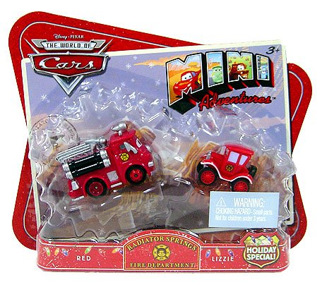 - 	 Disney Pixar World of Cars Mini Adventures Holiday Special Red and Lizzie
