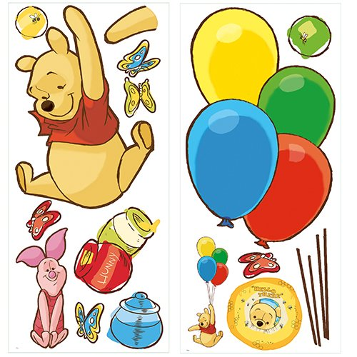 Roommates Rmk1499Gm Pooh And Piglet Peel And Stick Giant Wall Decal (Halloween Costumes For Work Groups)