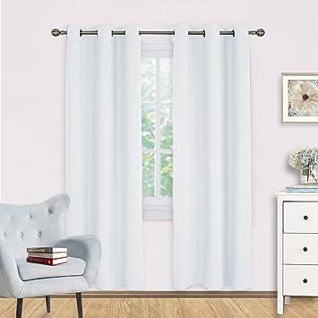 White Room Darkening Curtain Panels
