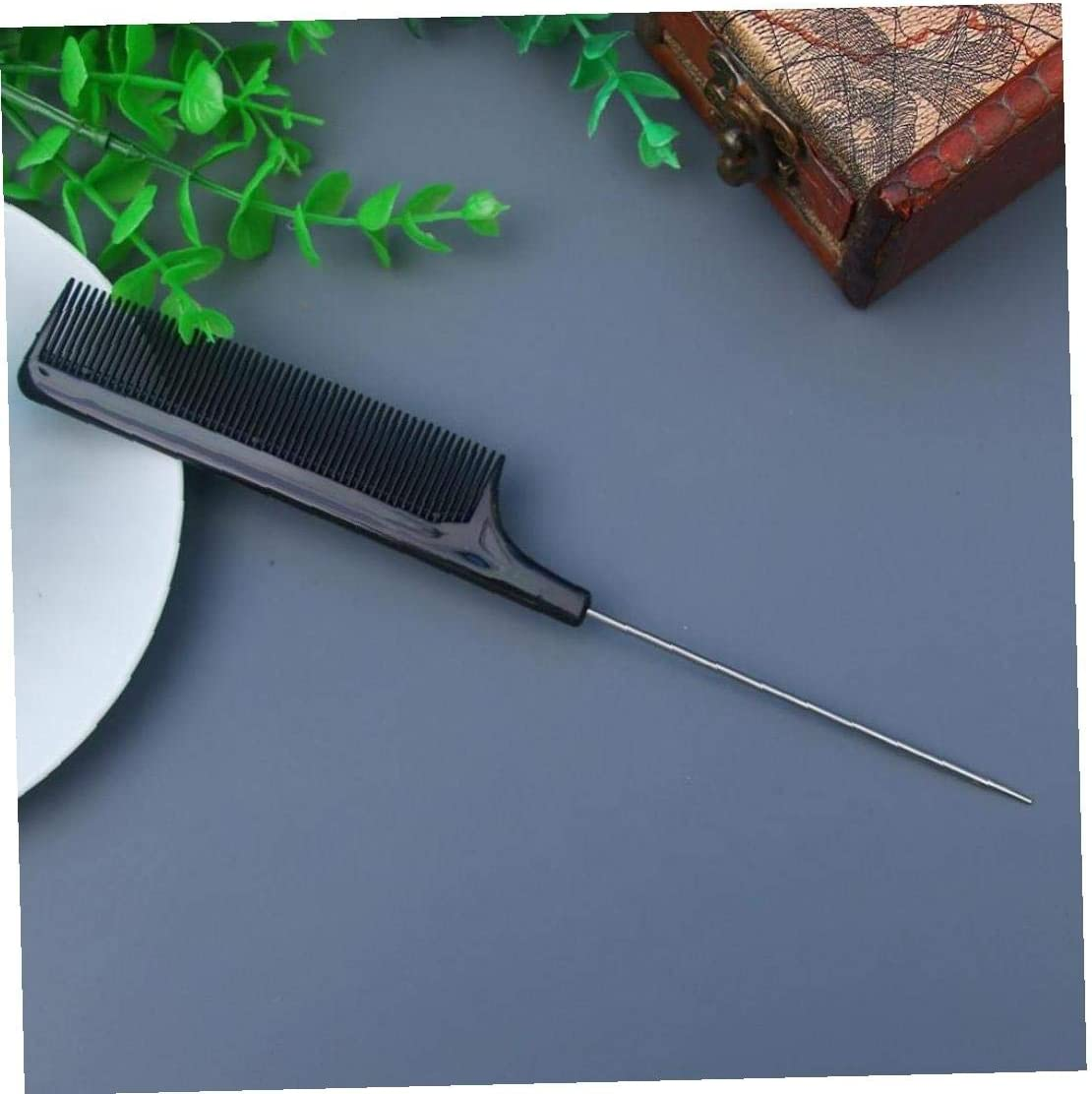 1PC Metal Pin Tail Combs Hairdressers Barbers Black Tail Comb Rat for Styling Hairdressing