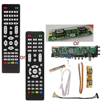 FXCO Tarjeta Piloto TV LCD V56 V59 DVB-T2 + 7 Interruptores ...