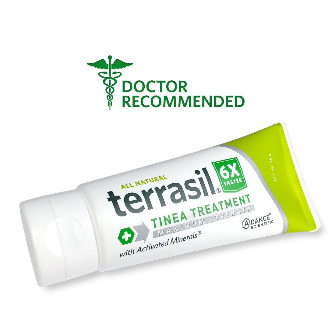Terrasil® Tinea Treatment MAX - 6x Faster Relief, 100% Guaranteed, Patented All Natural Therapeutic Anti-fungal Ointment for Tinea Relieves itching, discoloration, irritation, discomfort - 50g by Aidance Skincare & Topical Solutions
