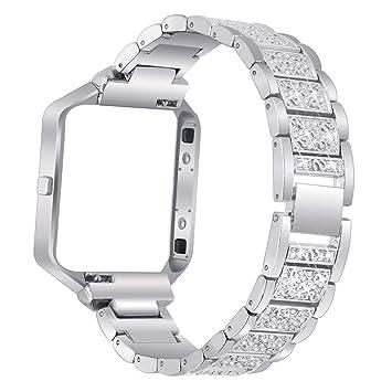 For Fitbit Blaze Strap with Frame, AISPORTS Fitbit Blaze Wrist Strap ...