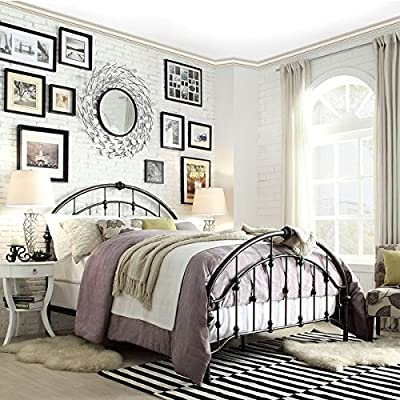 Lacey Round Curved Double Top Arches Victorian Iron Metal Bed