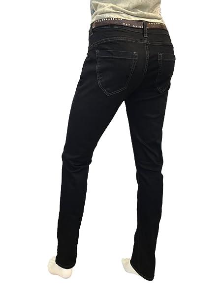 Damen Jeans, ATT, Zoe, 11992-3504/100, Slim Fit, black: Amazon.de:  Bekleidung