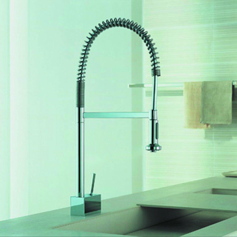 Hansgrohe 10820001 Axor Starck Semi-Pro Kitchen Faucet, Chrome ...