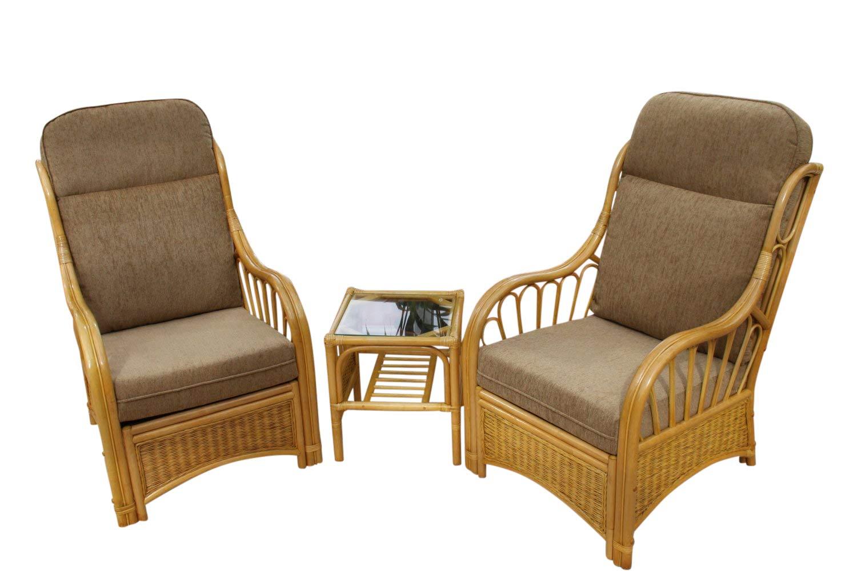 Garden Market Place Sorrento Cane Conservatory Furniture Duo Set- 2 ...