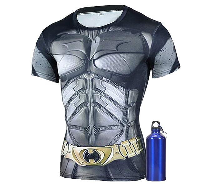 Amazon.com: 1Bar - Camiseta de compresión de manga corta ...