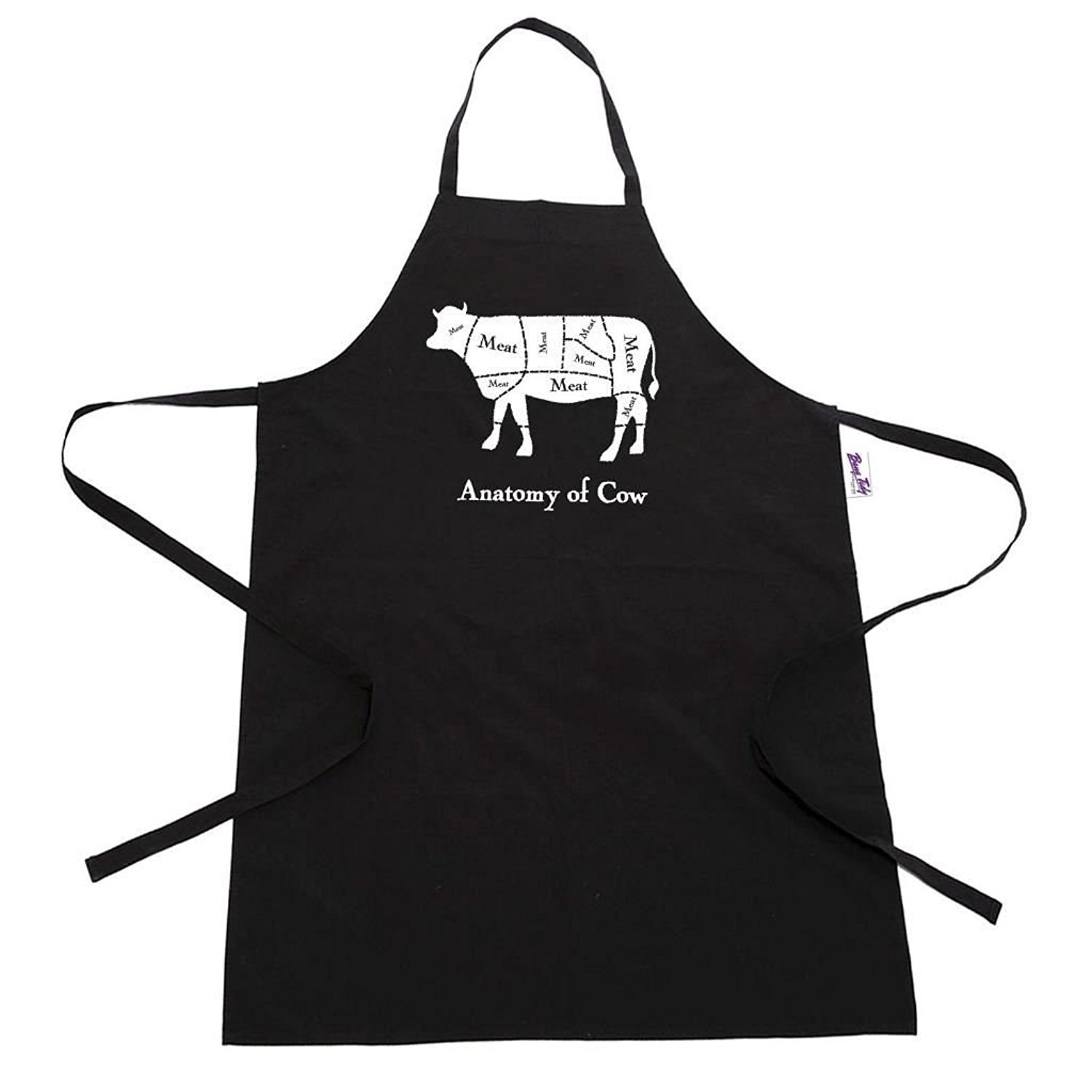 Amazon.com: BBQ Apron Funny Aprons For Men Anatomy of Cow Funny ...