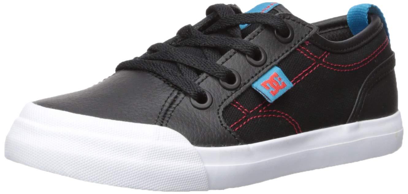 DC Boys' Evan SE Skate Shoe, Black/RED/Blue 7 M M US Big Kid