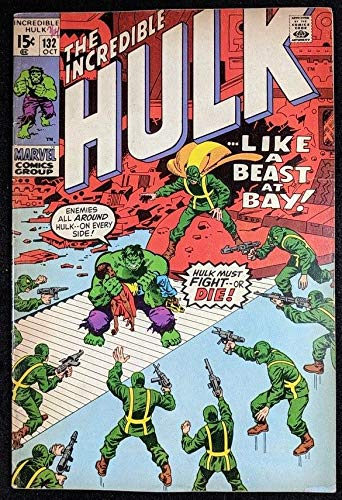 Incredible Hulk (1968) #132 VG/FN (5.0) vs HYDRA