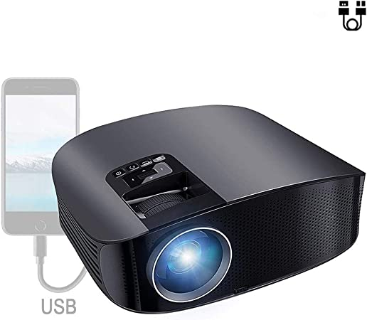 Proyector de Video HD Proyector LED 4000 Lumen con AV/VGA/USB/HDMI/TF Conexión a TV Stick/Chromecast,Negro: Amazon.es: Hogar